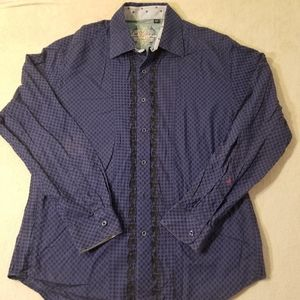 ROBERT GRAHAM Flip Cuff Shirt Size XL